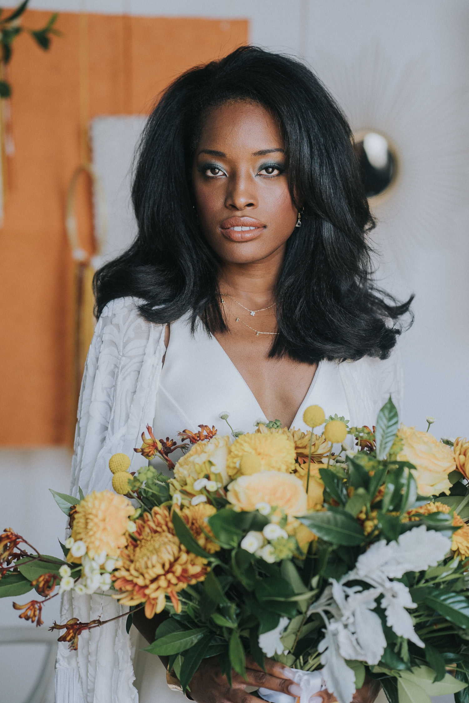 Rust and Mustard Bridal Bouquet