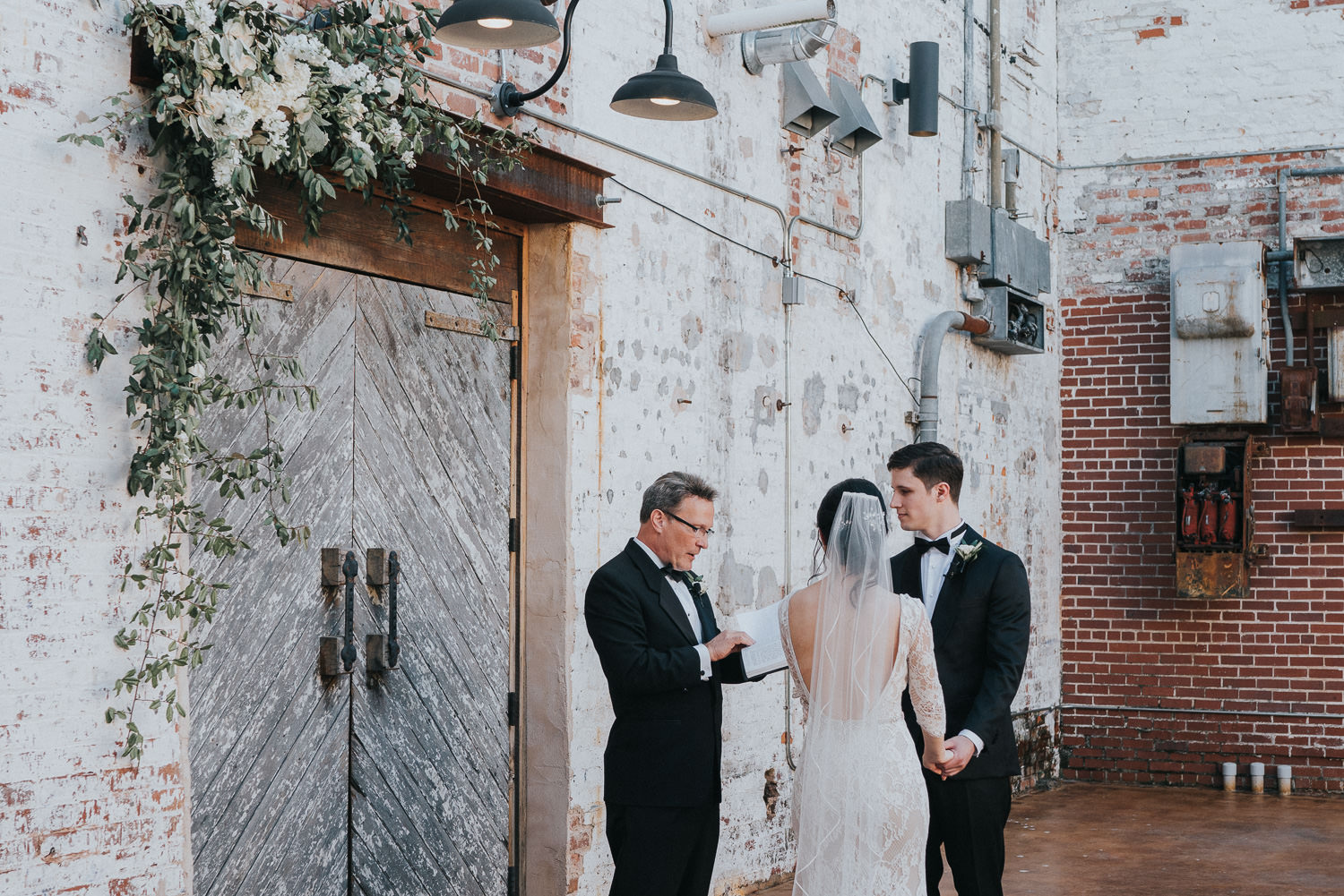 Outdoor ceremony at The Engine Room