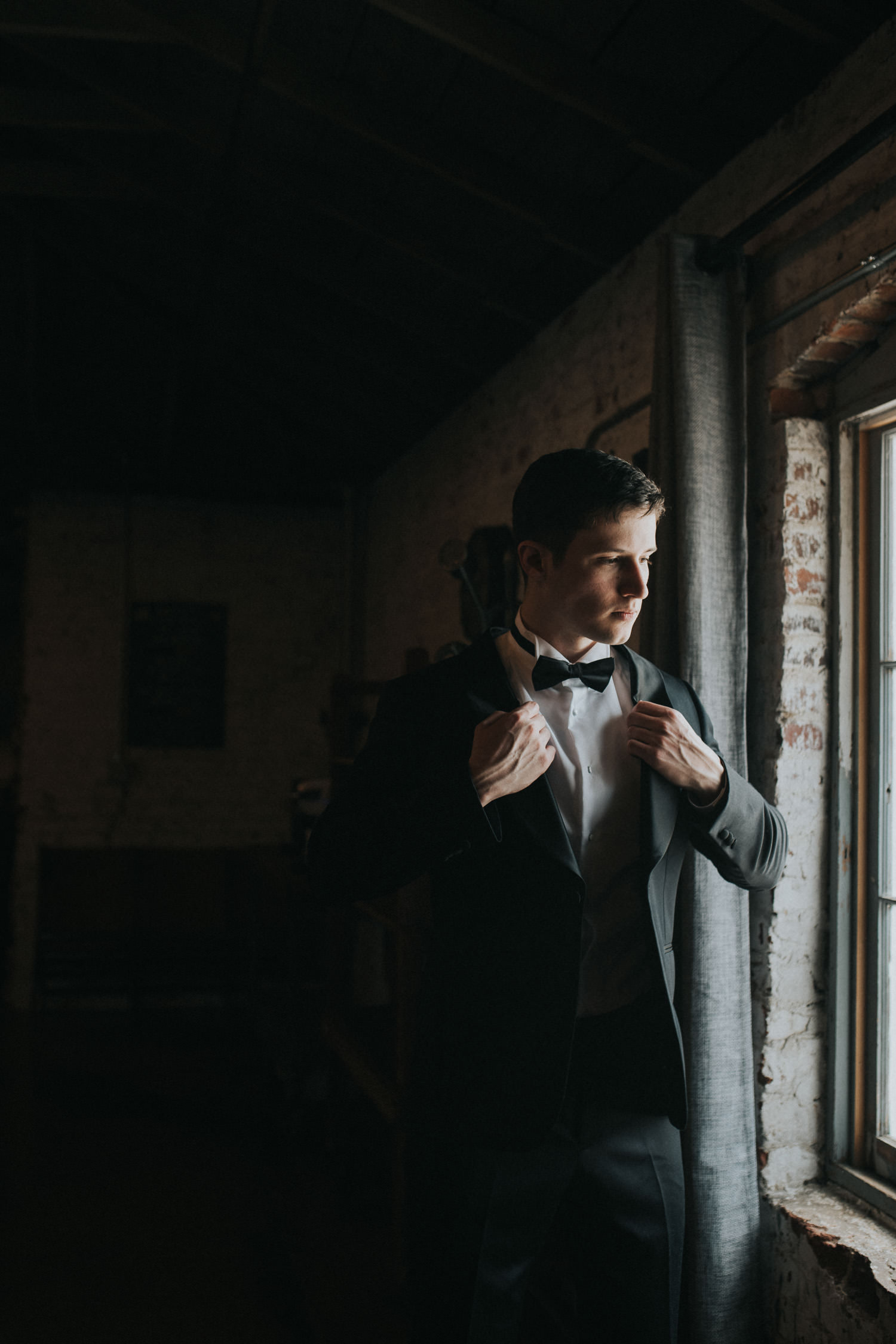 Grooms photos at The Engine Room